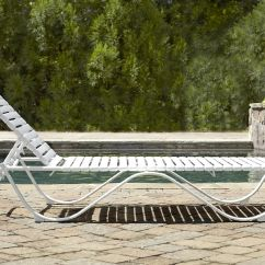 Lounge Chair Replacement Straps Leather Dining Chairs Walnut Legs Grand Resort Aluminum Pvc Strap Limited