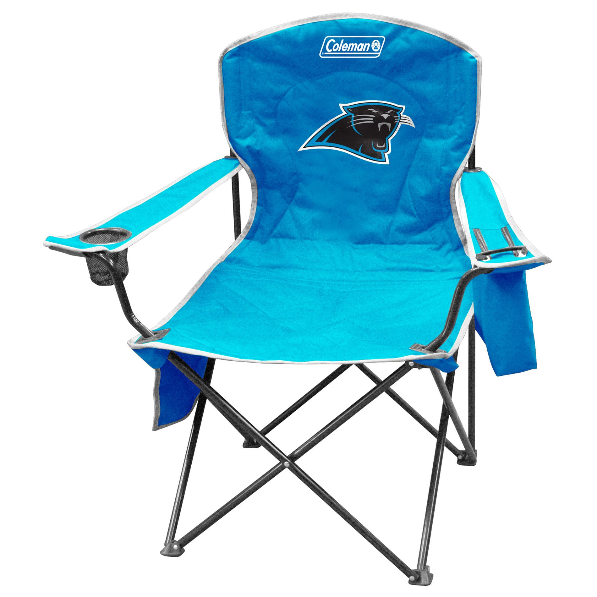 carolina panthers folding chairs bedroom chair wooden coleman nfl cooler with