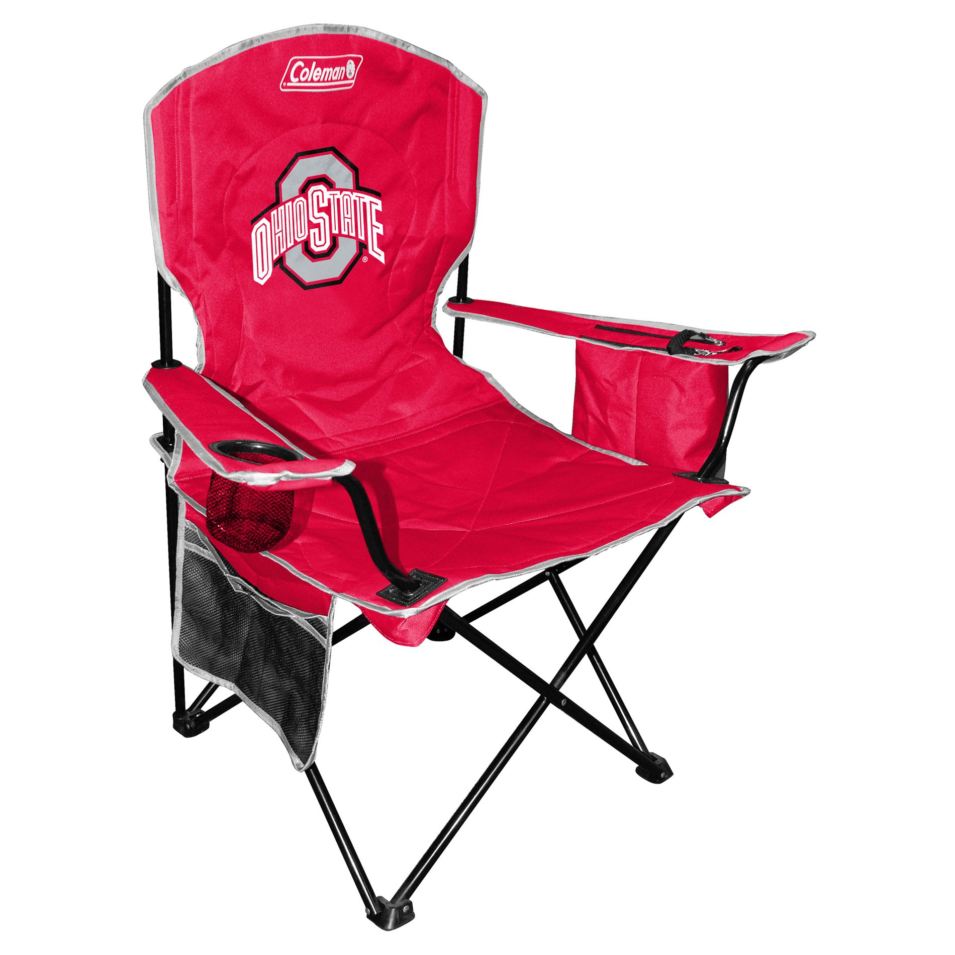 carolina panthers folding chairs small kitchen table with 2 coleman ncaa ohio state buckeyes cooler chair