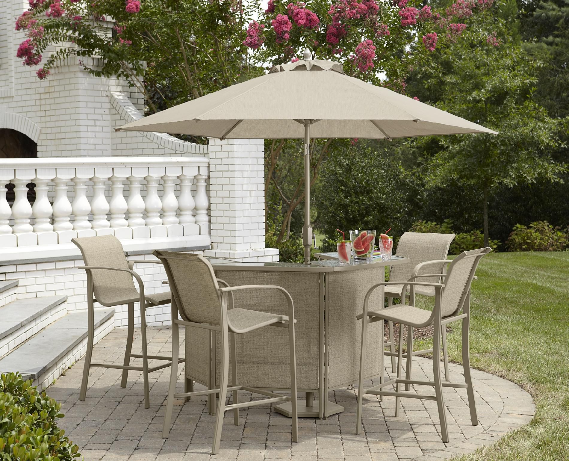 Outdoor Bar Table And Chairs Jaclyn Smith Stegner Bar Table Limited Availability
