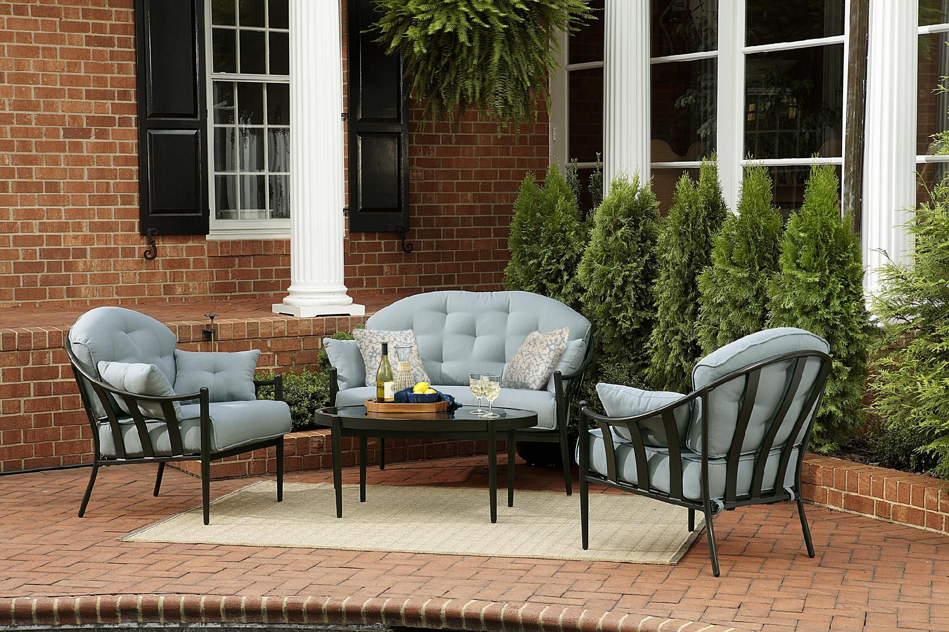 Chandler 4pc Outdoor Seating Set Sumptuous