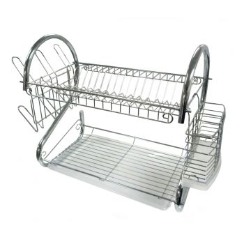 kitchen drying rack cheap backsplash dish racks drainers sears better chef dr 16 inch chrome