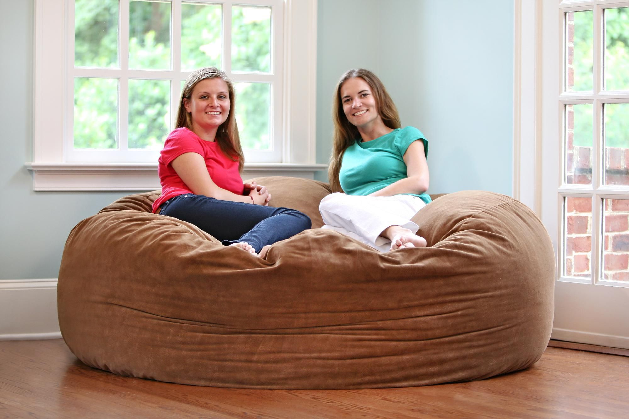 6 foot bean bag chair antique wooden desk on wheels comfort cloud foam bags