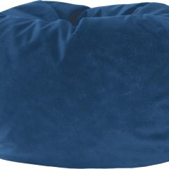 Xl Bean Bag Chair Wood Floor Protector Fashion Faux Suede Teardrop Blue