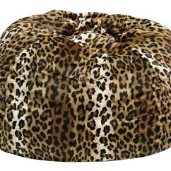 Cheetah Print Bean Bag Chair Design Challenge Extra Large Micro Fiber Suede Animal Bags