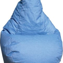 Denim Bean Bag Chair Ice Fishing Shelter Large Tear Drop Demin Look With Pocket Bags