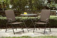 Garden Oasis Wicker Folding Chair - Light Option* Limited ...