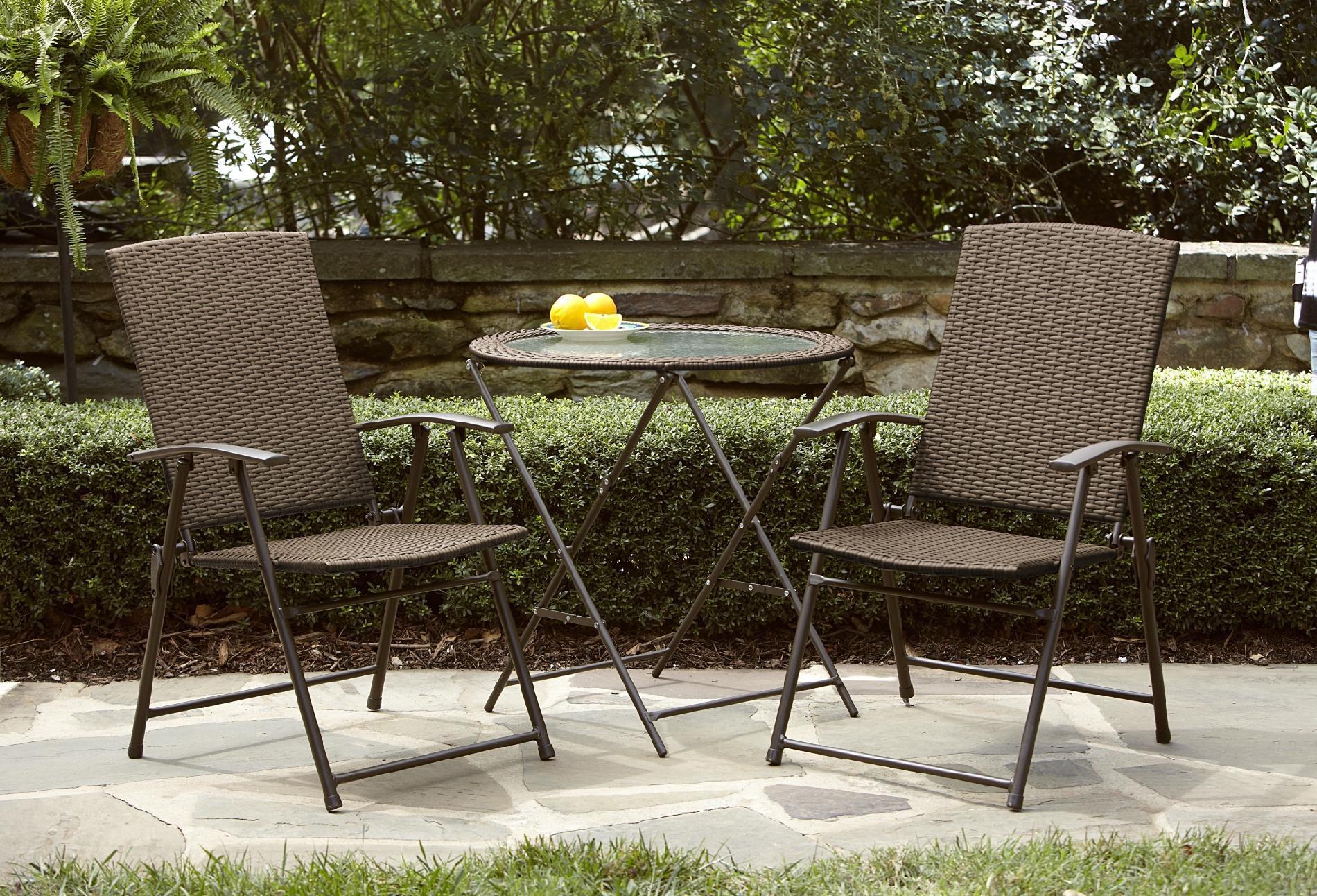 Garden Oasis Wicker Folding Chair  Light Option Limited
