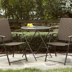 Garden Oasis Patio Chairs Chair Stool Bar Wicker Folding Light Option Limited