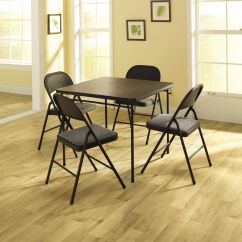 Cosco Card Table And Chairs For Tall People 5 Piece Vinyl Chairs: Entertain Friends With Sears