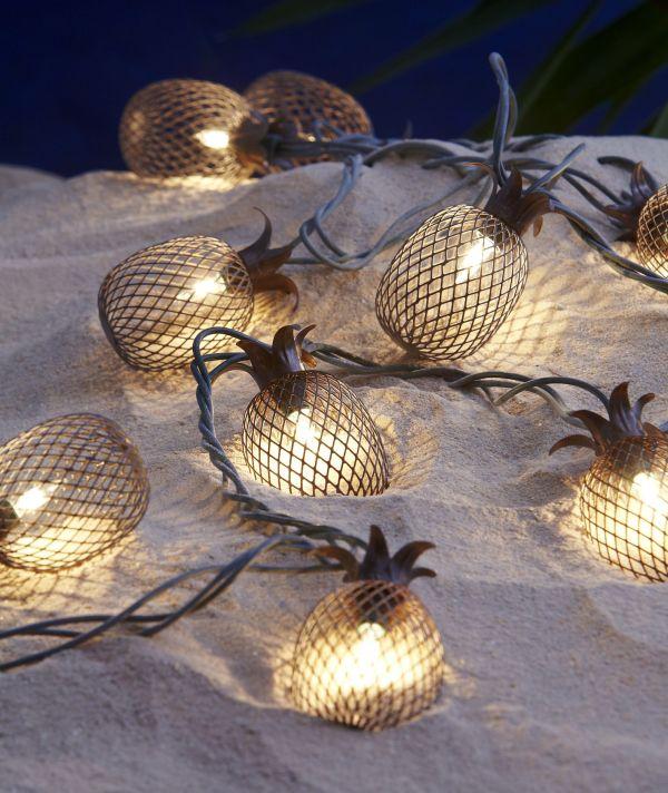 Garden Oasis 10ct Pineapple Light String