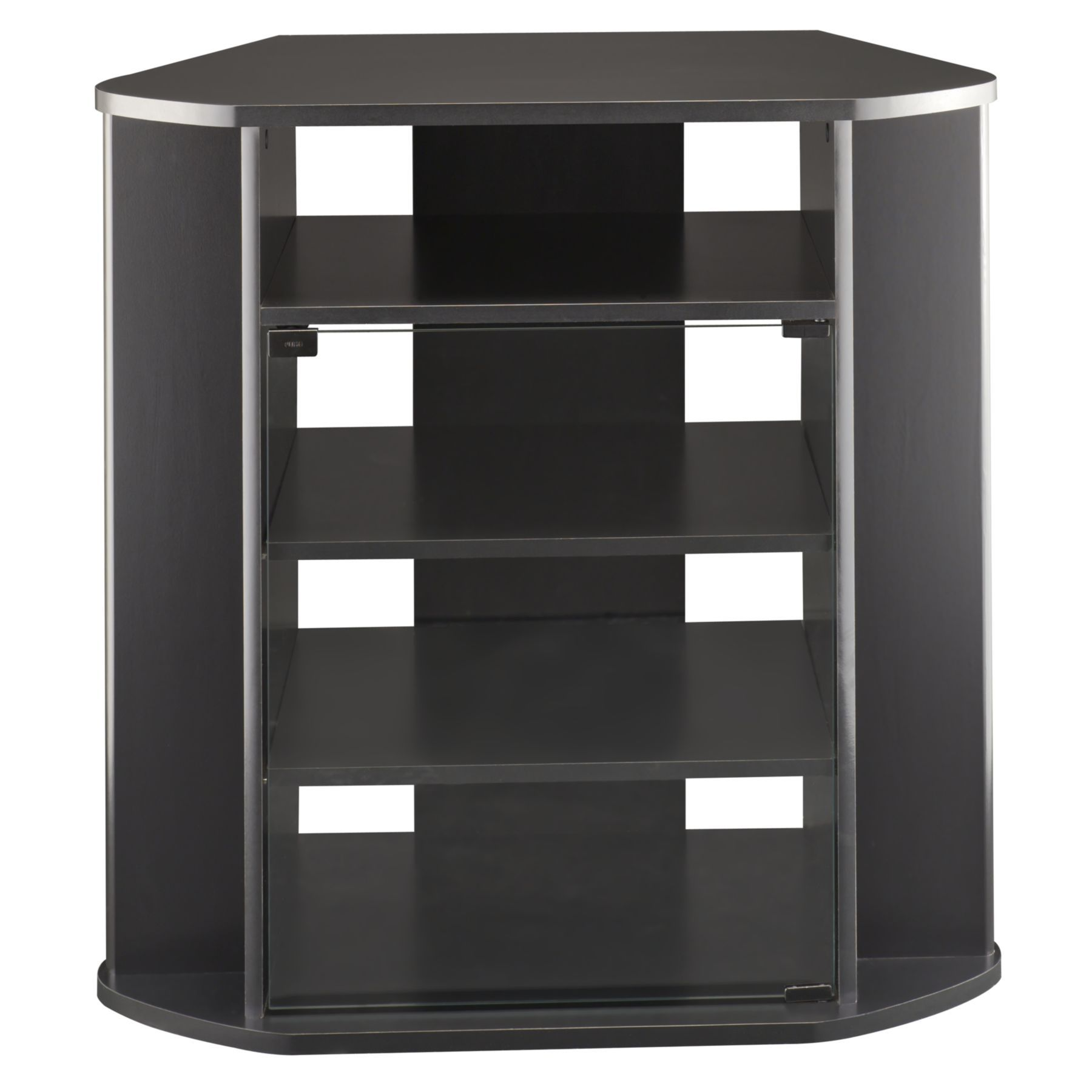 Bush Furniture Bush Myspace Visions Tall Corner TV Stand in Black