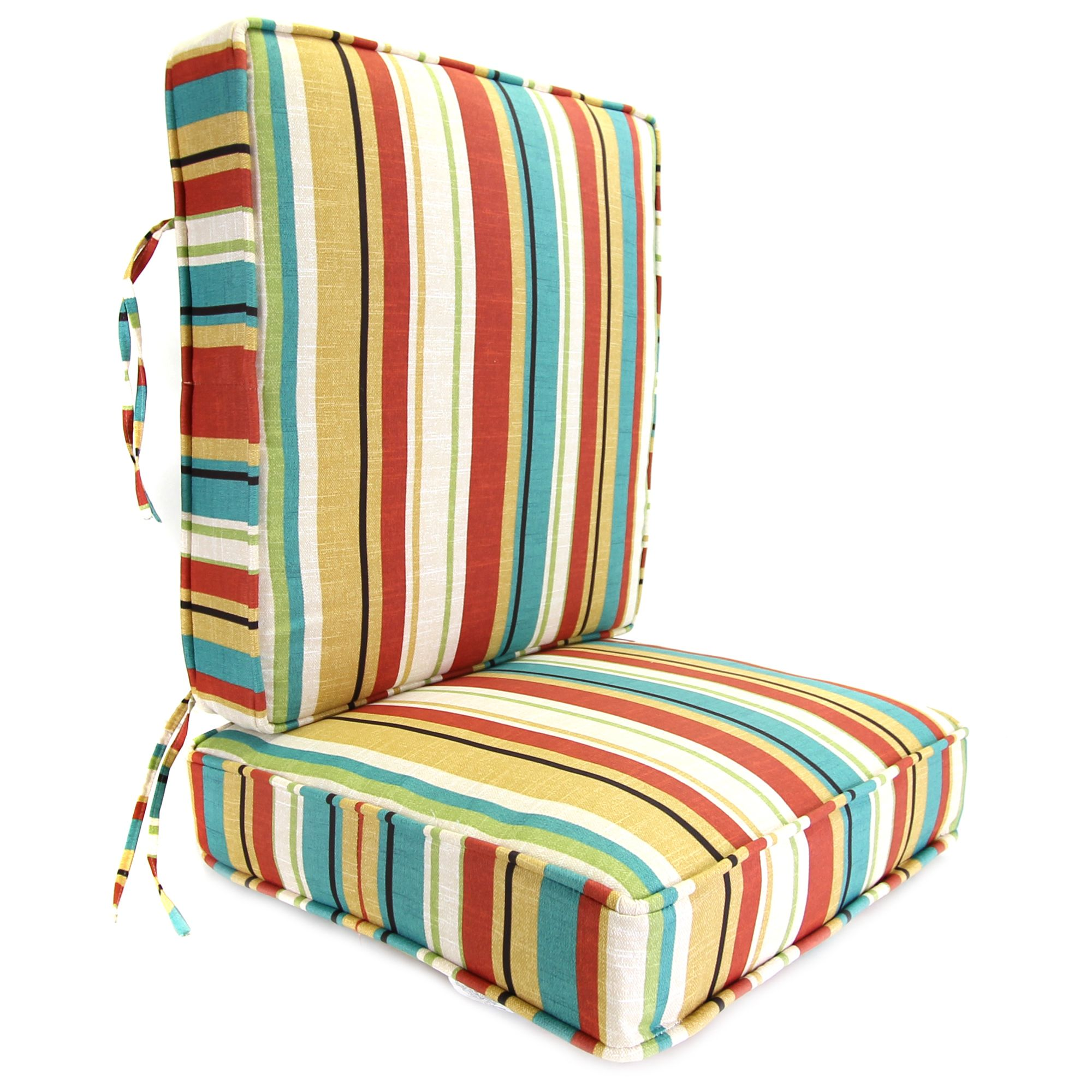 boxed chair cushions patio covers amazon jordan manufacturing co inc wyken stripe scarlet deep