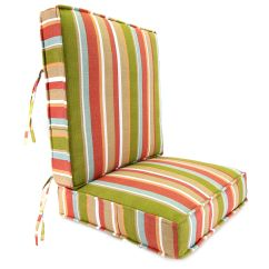 Boxed Chair Cushions Wedding Covers Hire In Cape Town Jordan Manufacturing Co Inc Mila Stripe Sesame Deep