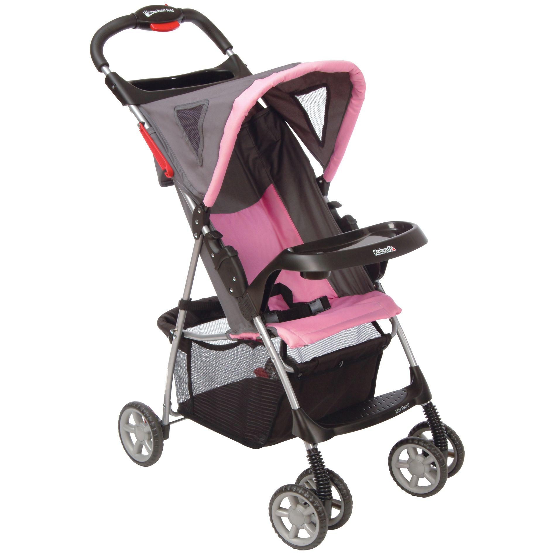 Kolcraft Lite Sport Stroller - Pink