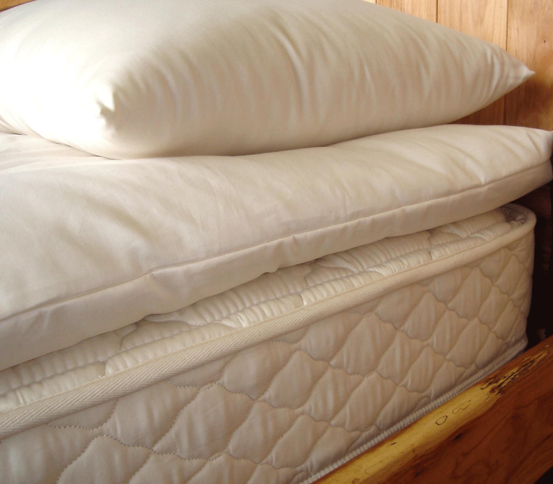 Holy Lamb Organics Quilted Wool Mattress Topper