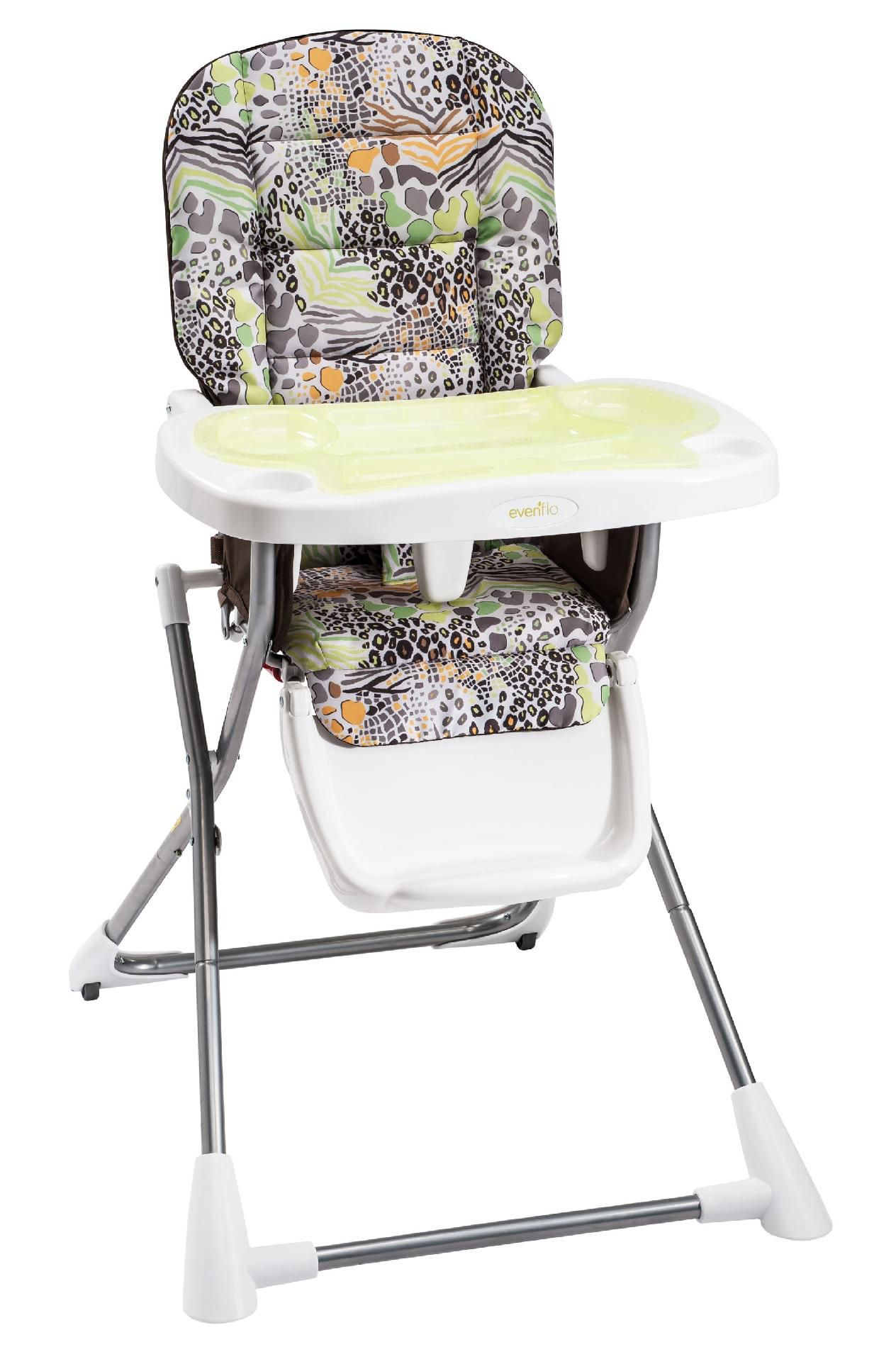 Evenflo Compact Fold High Chair Evenflo High Chair Compact Zoo Friends Shop Your Way