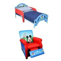 Disney Mickey Mouse Toddler Bed & Recliner Bundle