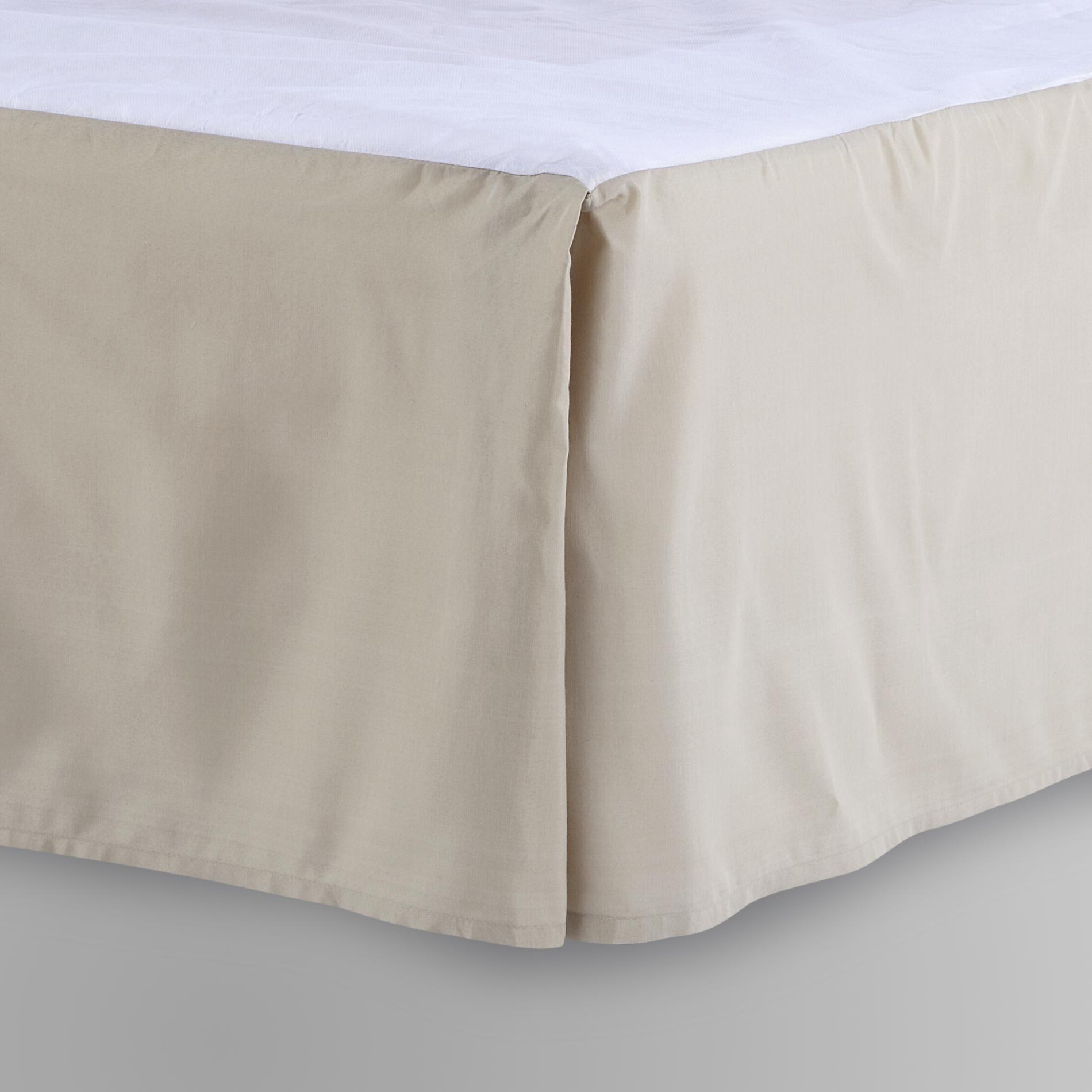 Cannon Woven Bed Skirt - Khaki Home & Bath