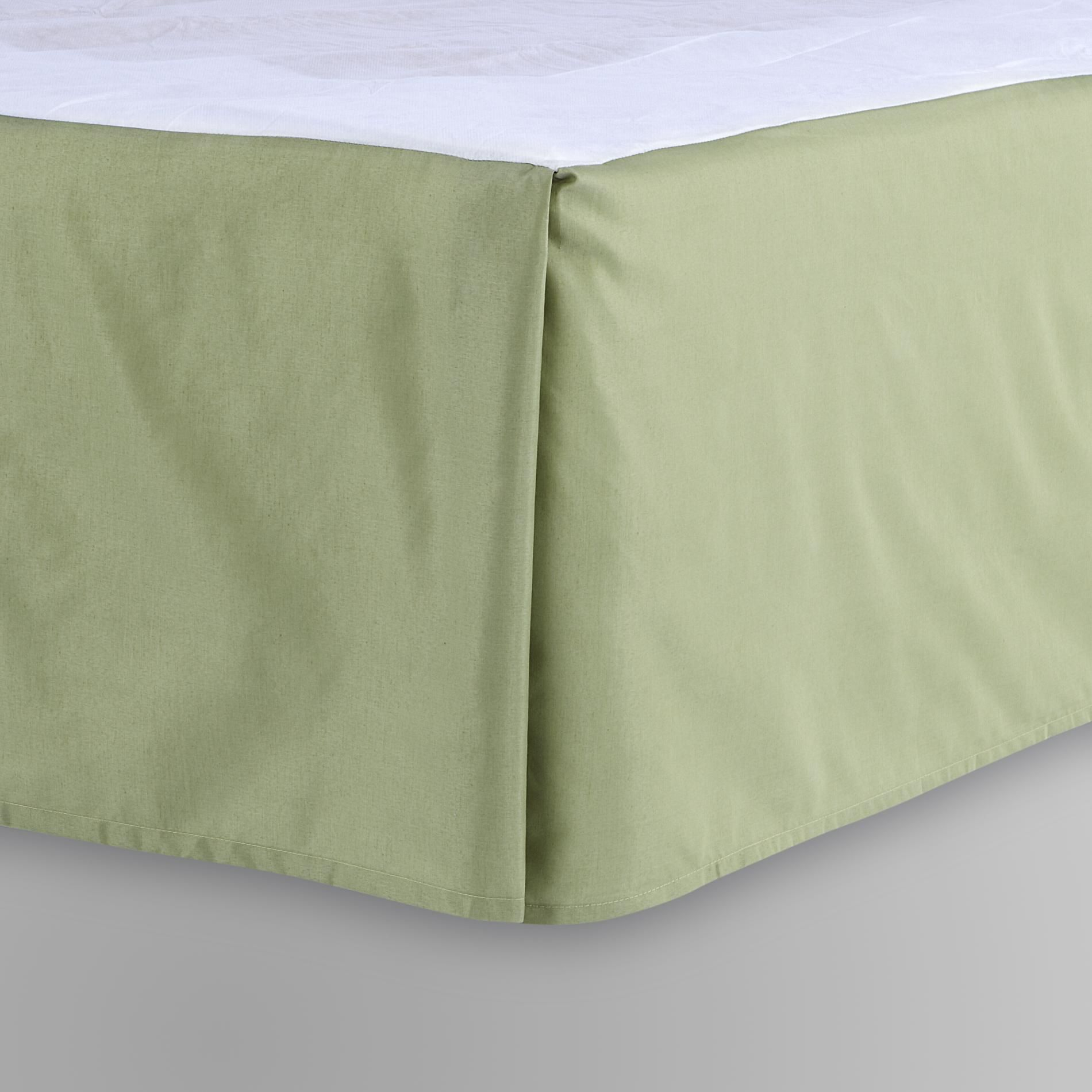 Cannon Woven Bed Skirt - Sage