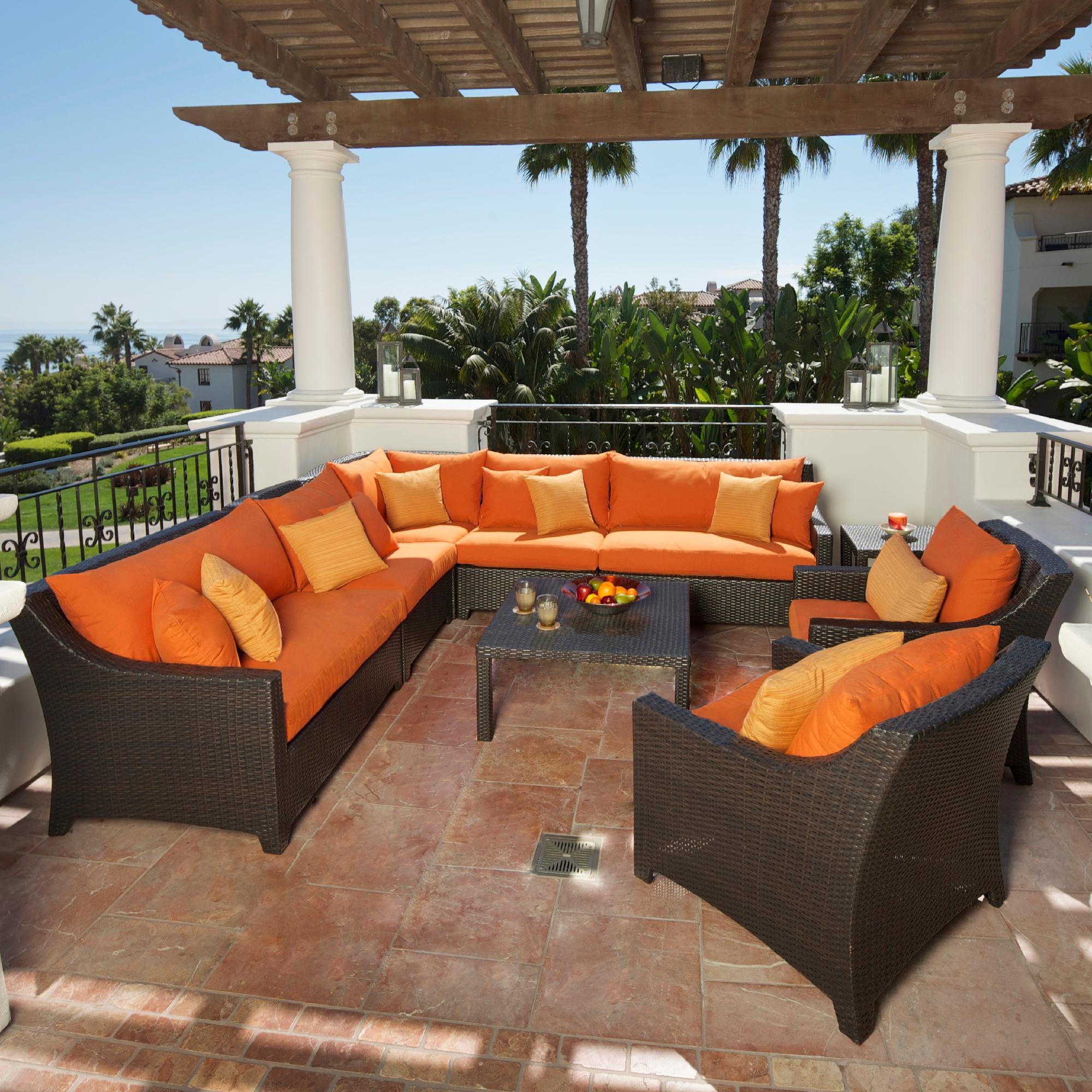 Rst Brands Tikka 9-piece Corner Sectional Sofa And Club