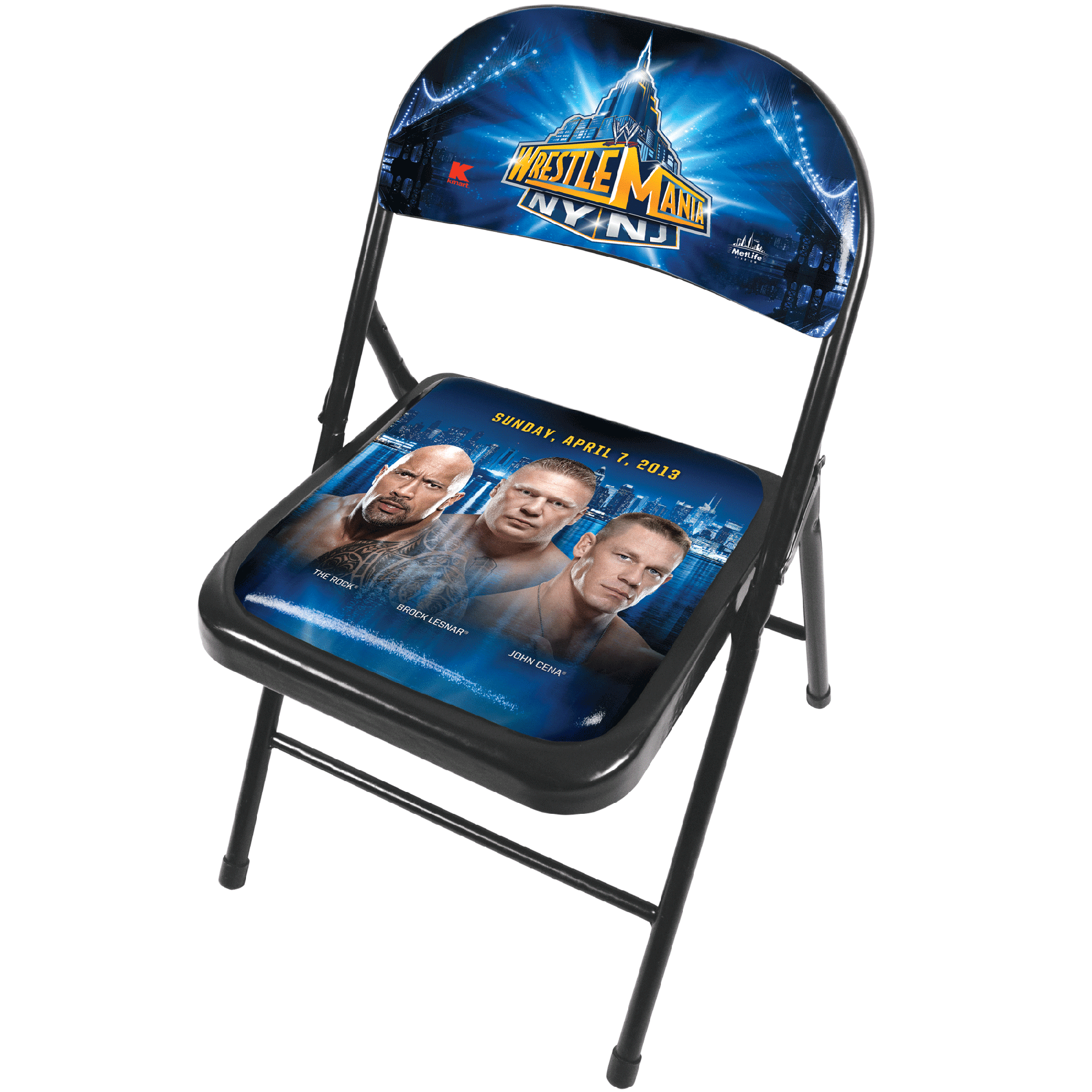 steel chair in wrestling office mat 48 x wwe limited edition wrestlemania 29