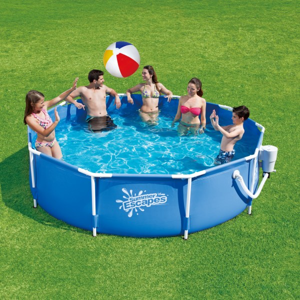 Summer Escapes Pool Set Metal Frame 10 Ft X 30 In Online Shopping & Earn Points