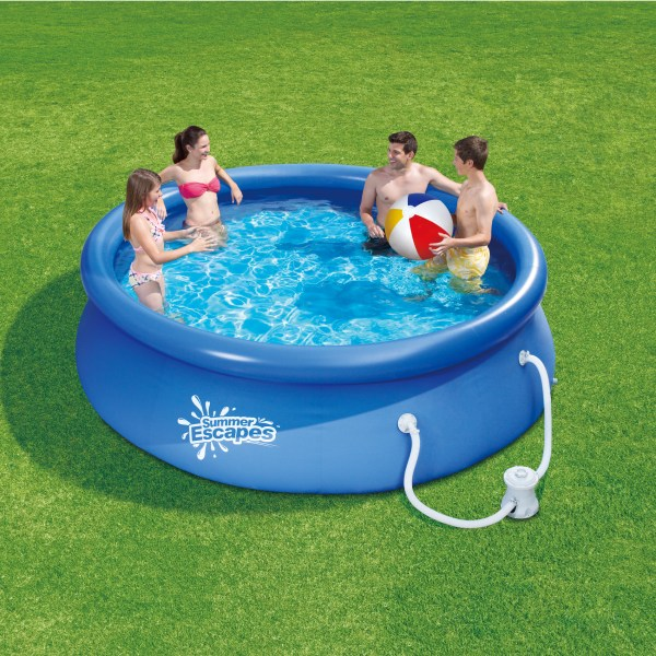 Summer Escapes 10 Ft. X 30 In. Quick Set Ring Pool With Pump Online Shopping
