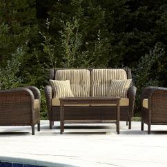 Wicker Patio Chair Set Of 2 Black Pedestal Table And Chairs Mayfield 4 Pc. Deep Seating Set: Make Your Outdoors Fun With Sears
