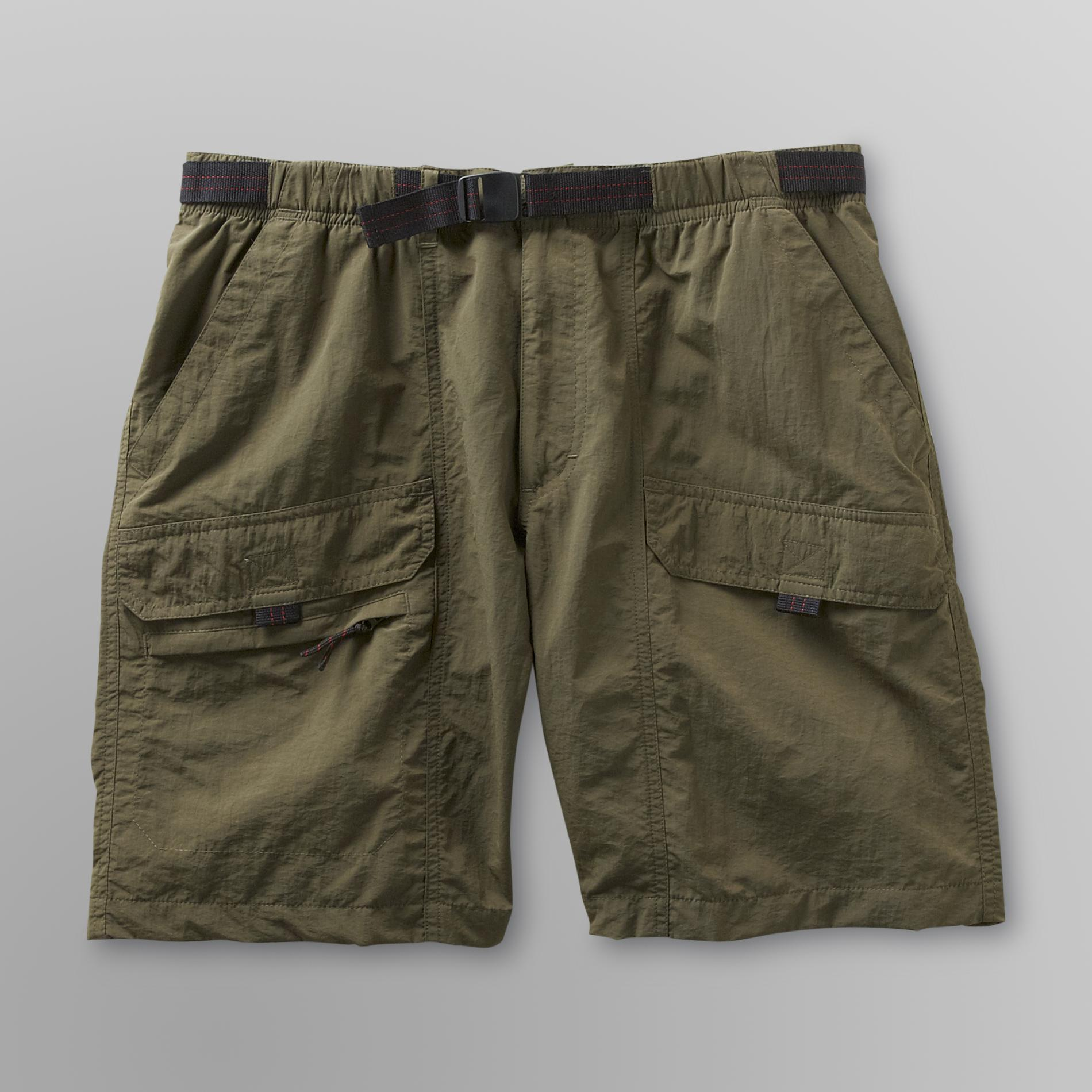 Basic Editions Mens Packable Cargo Shorts