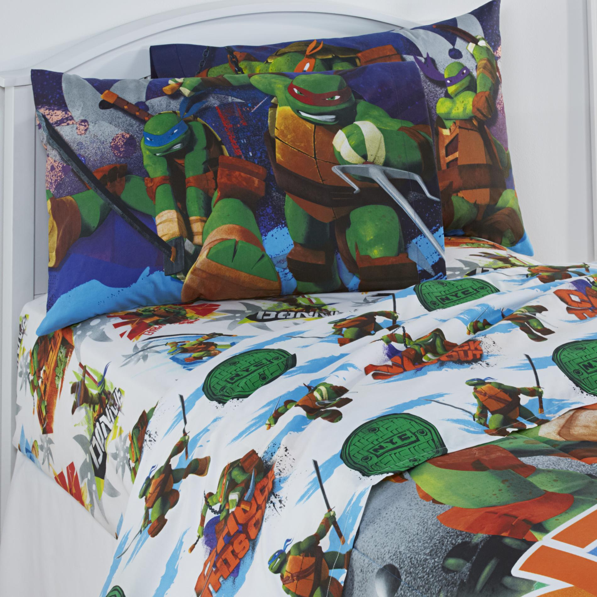 Teenage Mutant Ninja Turtles Twin Bed Sheet Set Bedding For Kids Boys Bedroom