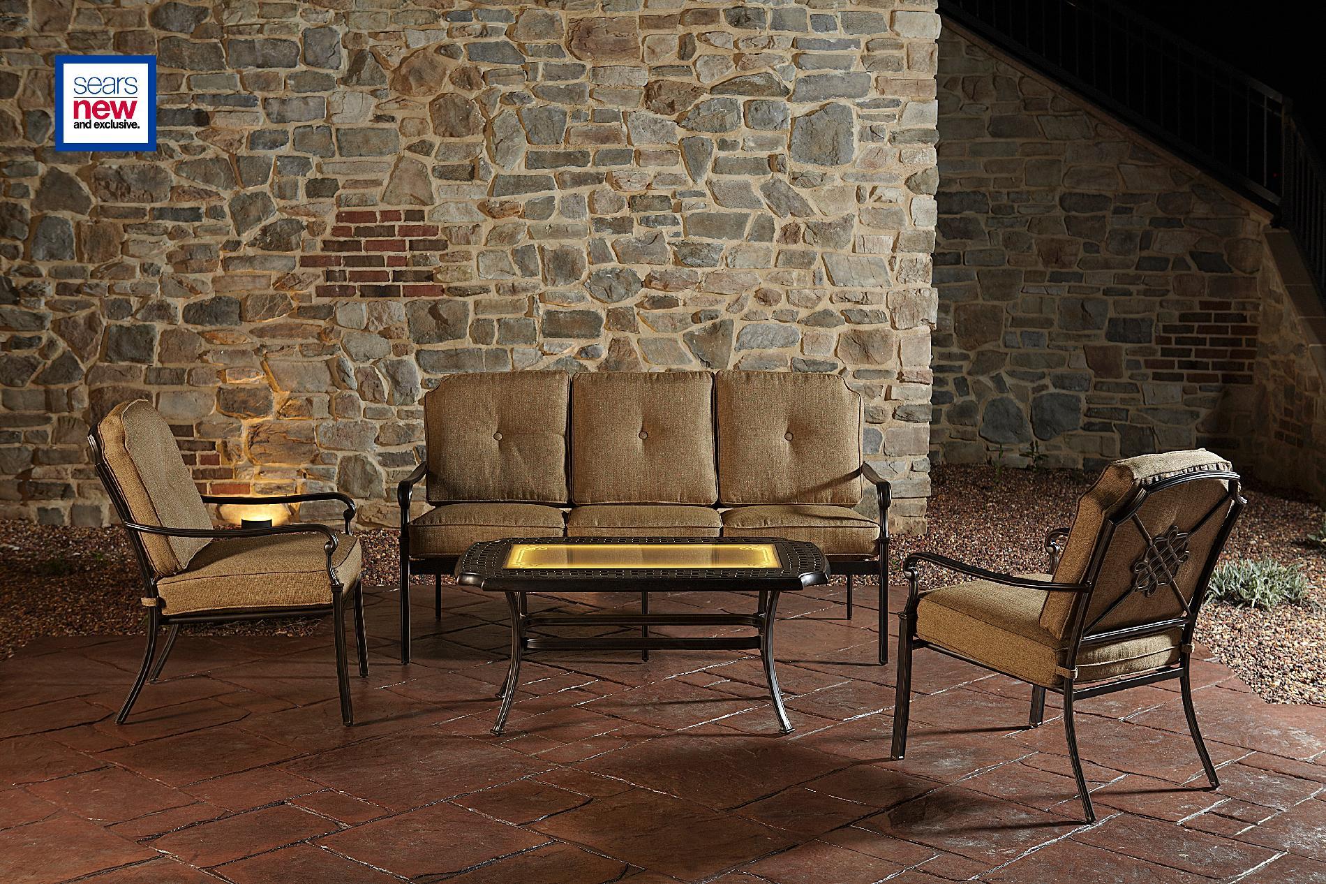 Agio International Bella Luna 4pc Lighted Seating Set