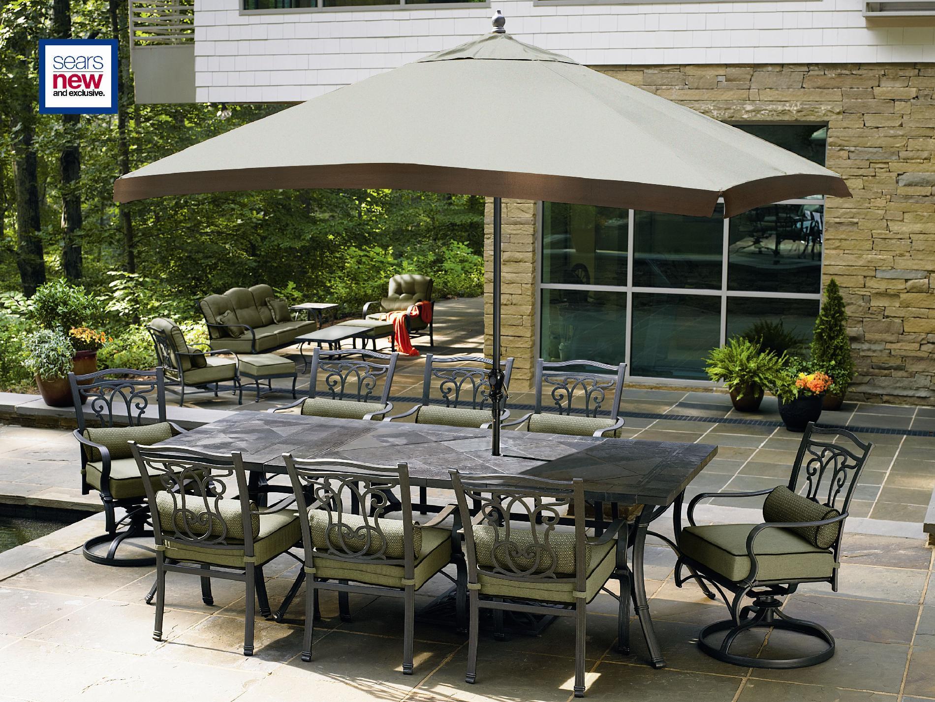 Hadley Bronze 10 Piece Patio Set Improve Outdoor