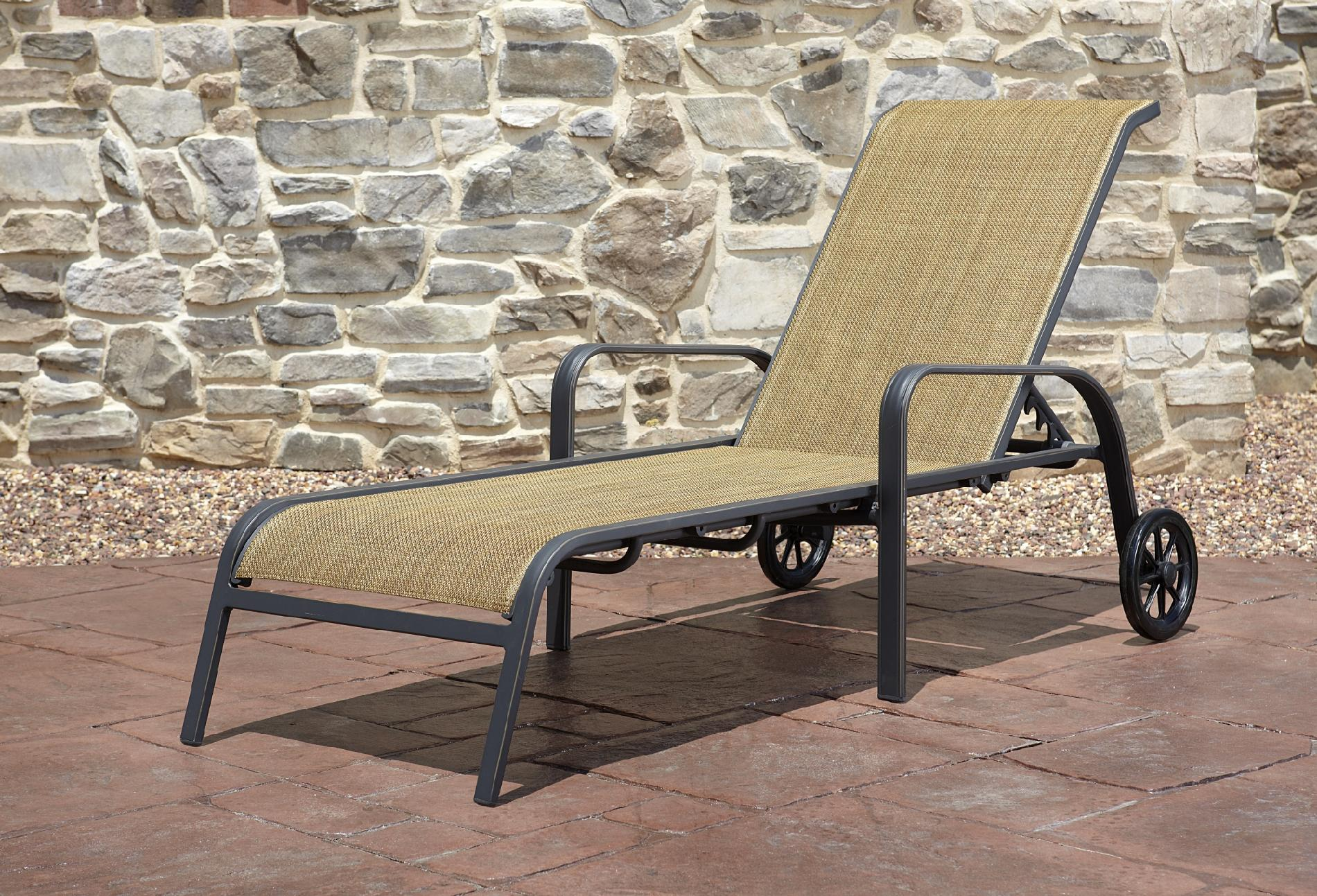 Sling Chaise Lounge Chair Panorama Sling Chaise Lounge Get Premium Relaxation From