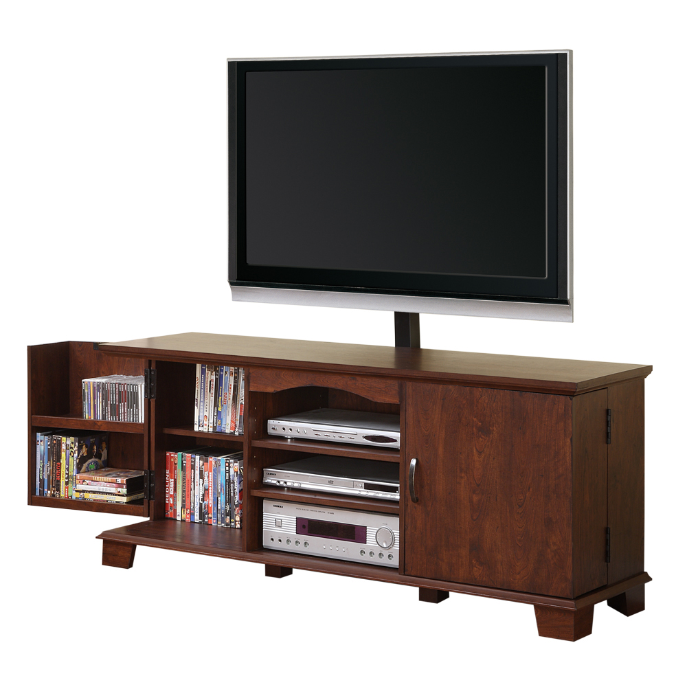 Walker Edison 60 in Brown Wood TV Stand with Mount  Home  Furniture  Game Room  Media
