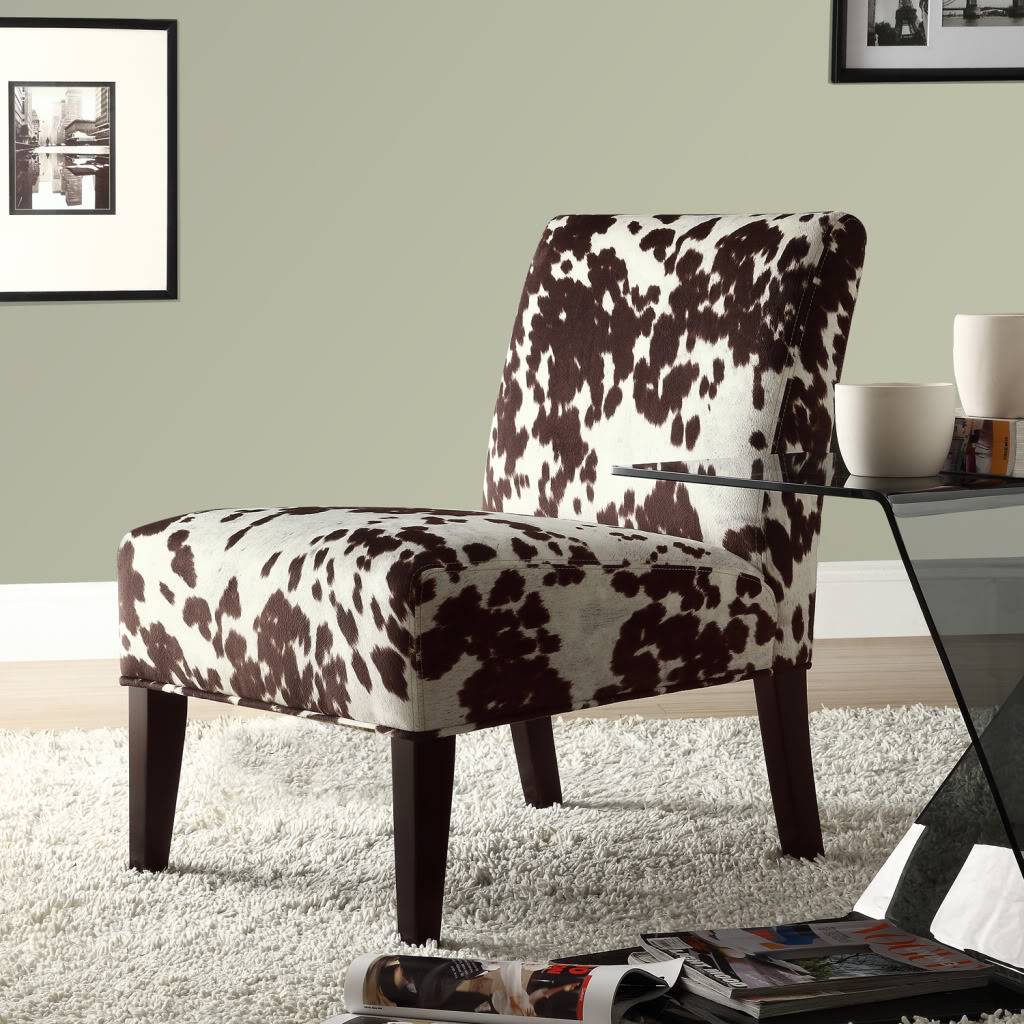 cowhide print accent chair zeus thunder gaming oxford creek contemporary moo home