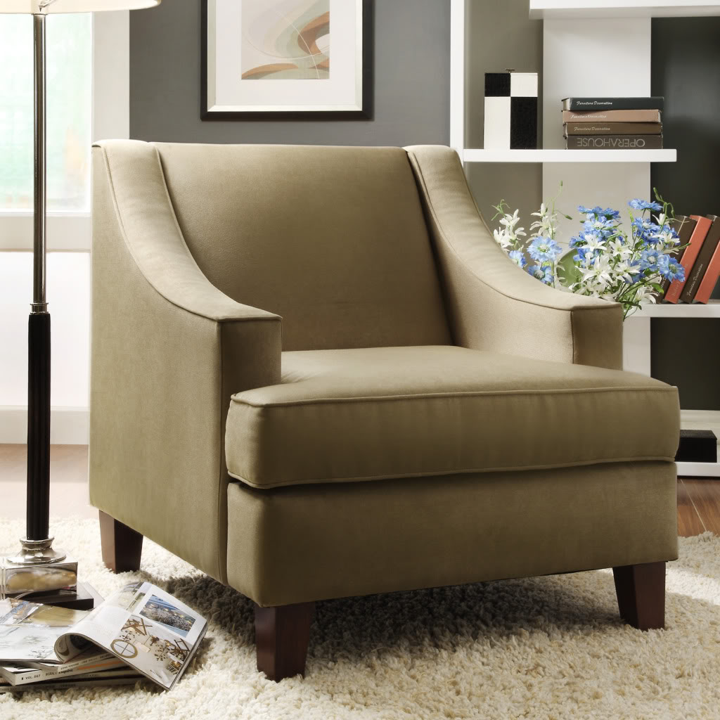 sears accent chairs cheap chair covers auckland oxford creek contemporary taupe curved arms club