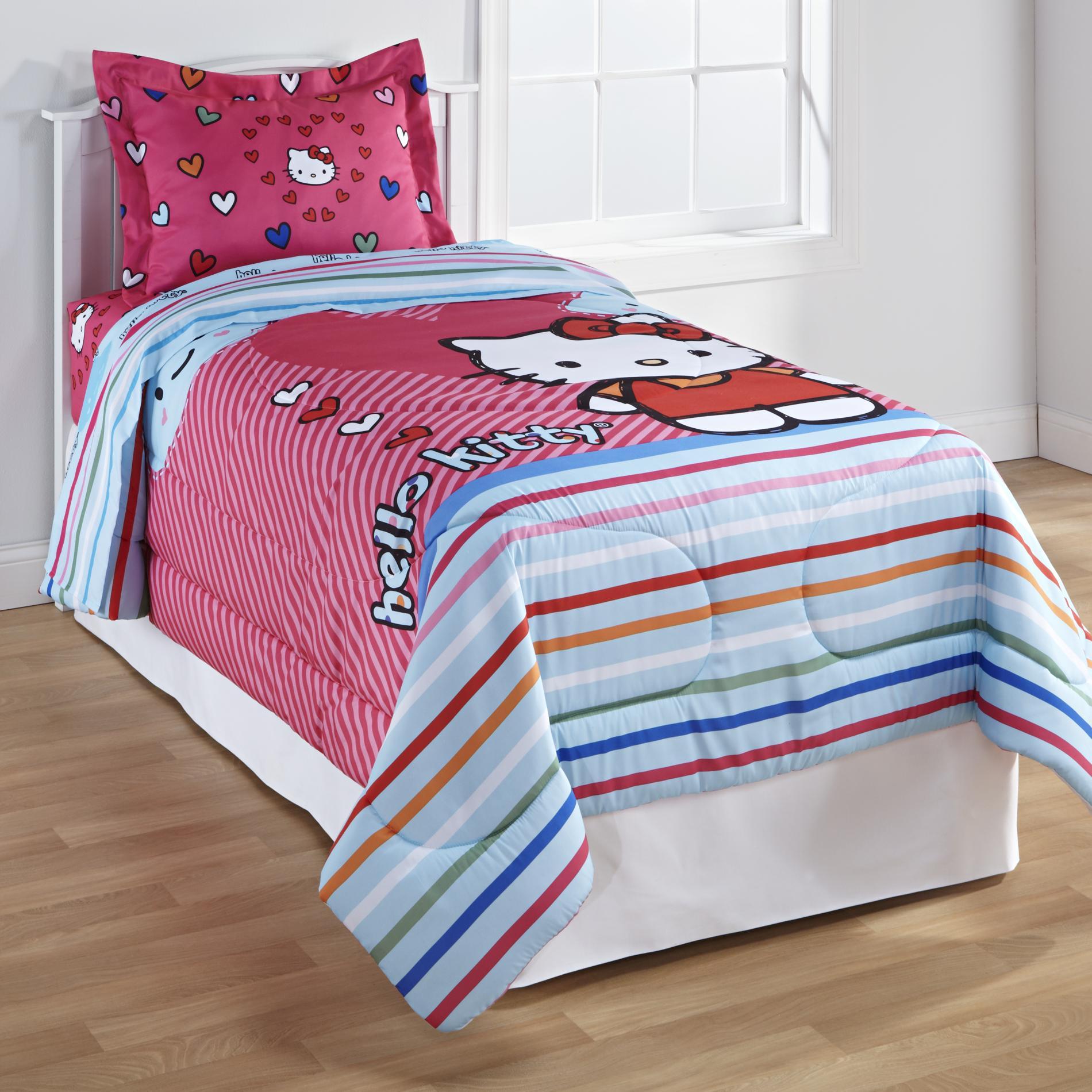 Kitty Twin Full Comforter - Free Time