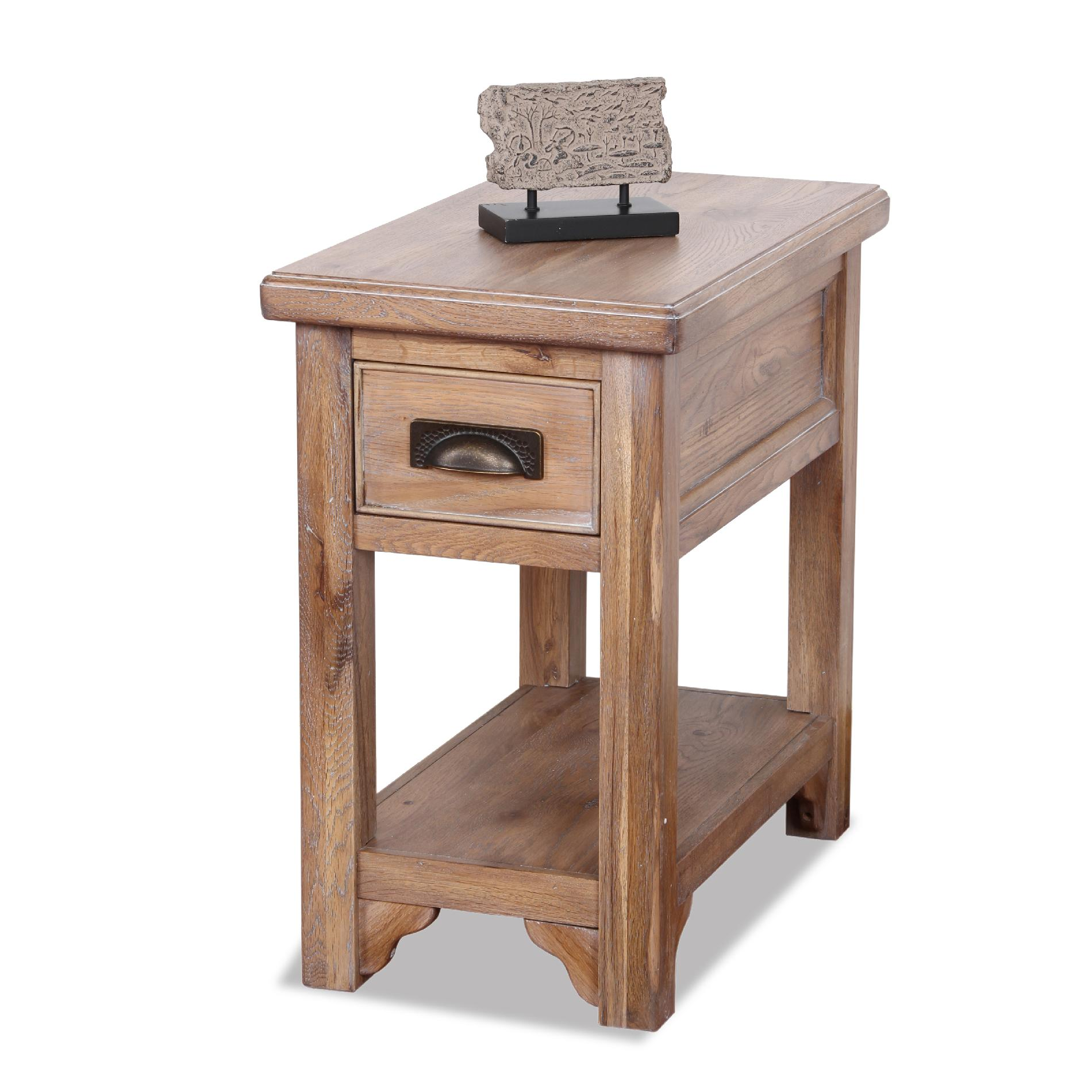chair side end table office without back leick rustic slate chairside small oak