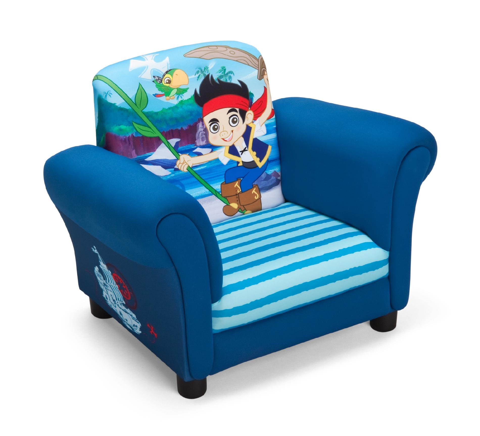 childrens upholstered chair swivel with footrest jake and the never land pirates decor totally kids