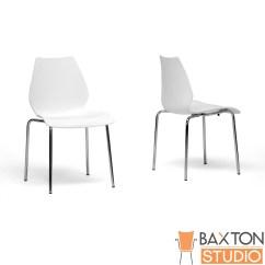 White Plastic Dining Chairs Masters Folding Baxton Studio Overlea Modern Chair