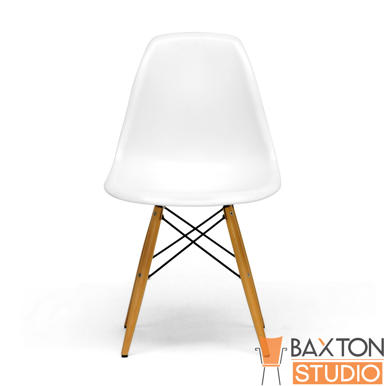 Modern Plastic Chairs Baxton Studio Lac Set Of 2 Modern Plastic Side Chair With