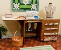 Arrow Sewing Cabinet w/ EZ-Lift Air Mechanism - Oak Grain