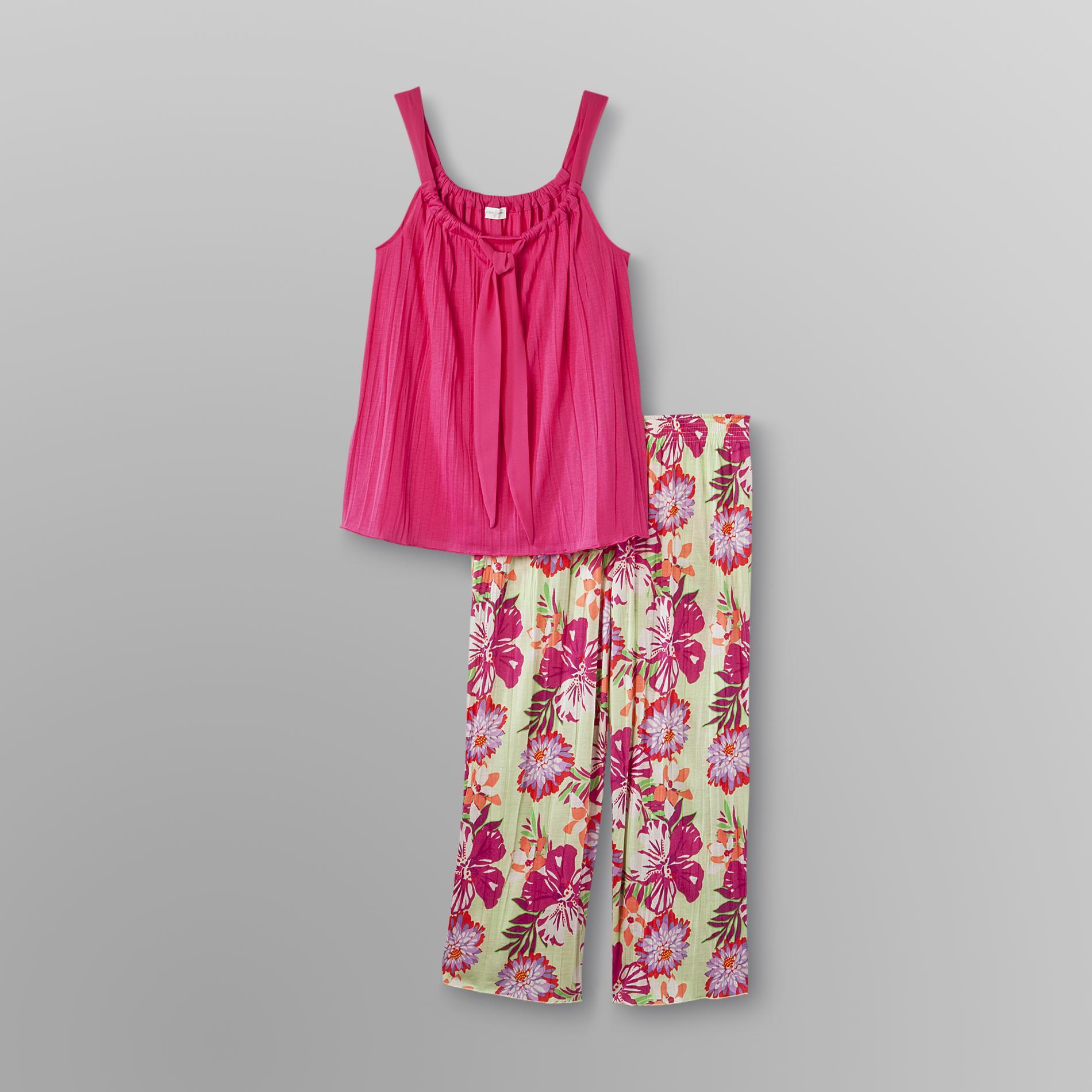 Jaclyn Smith Women' Capri Pajamas - Floral
