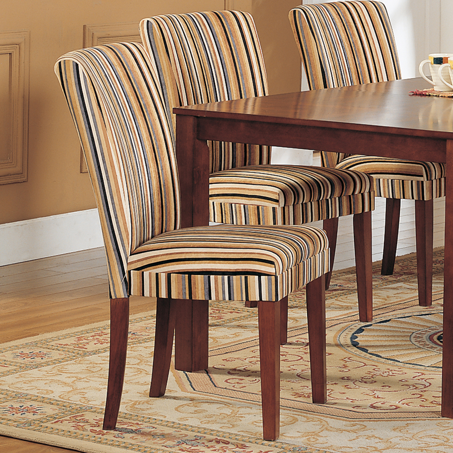 striped dining chair steel easy oxford creek upholstered set of 2 multi home furniture kitchen chairs