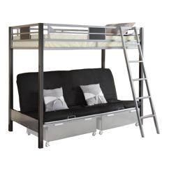 Sofa Bed Bunk Beds Black Velvet Chesterfield Venetian Worldwide Cletis Iii Twin Over Futon