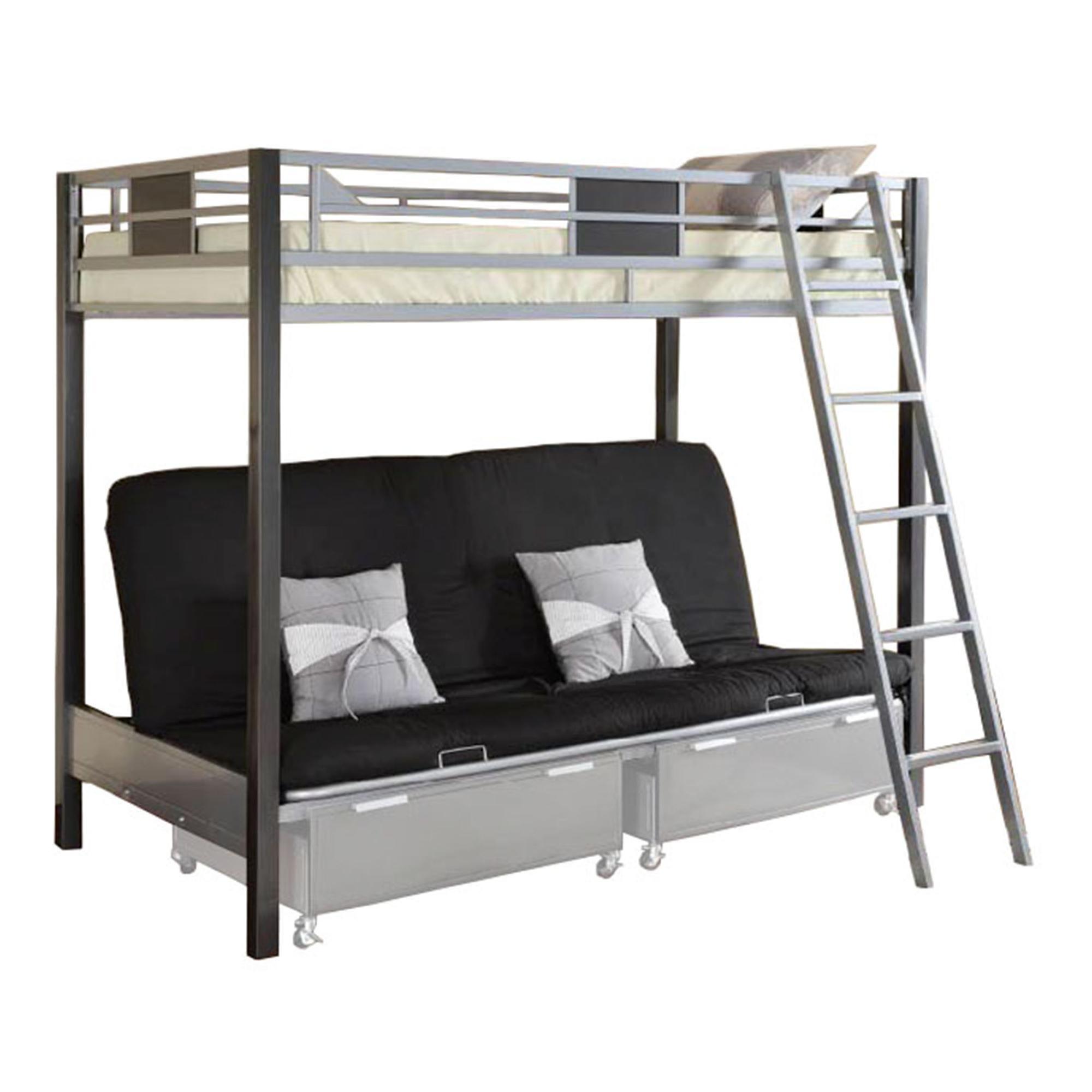 metal sofa bed parts baxton studio sectional grey venetian worldwide cletis iii twin over futon bunk