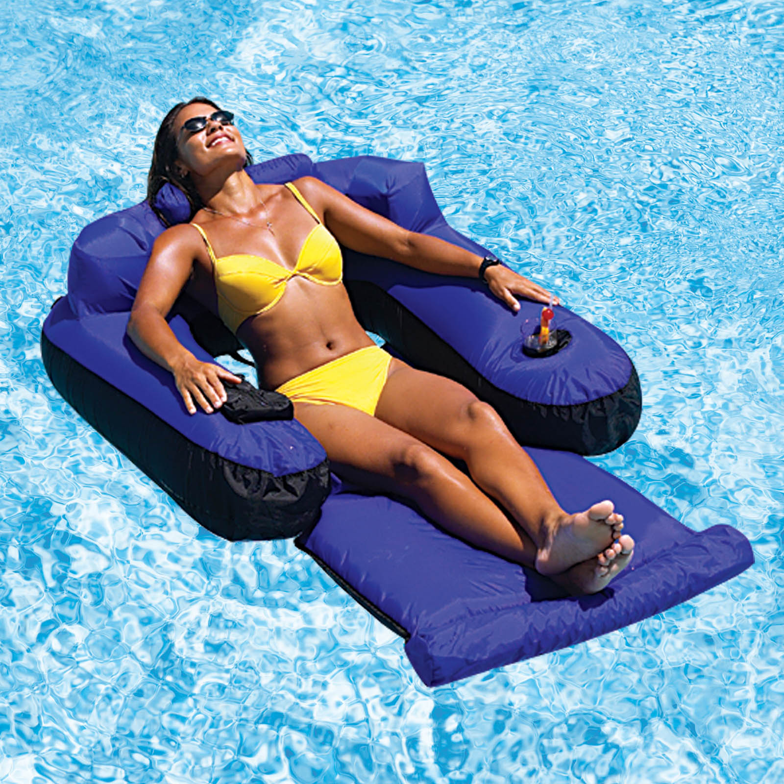 pool floating lounge chair full recline zero gravity with massage technology doheny 39s water warehouse ultimate fabric