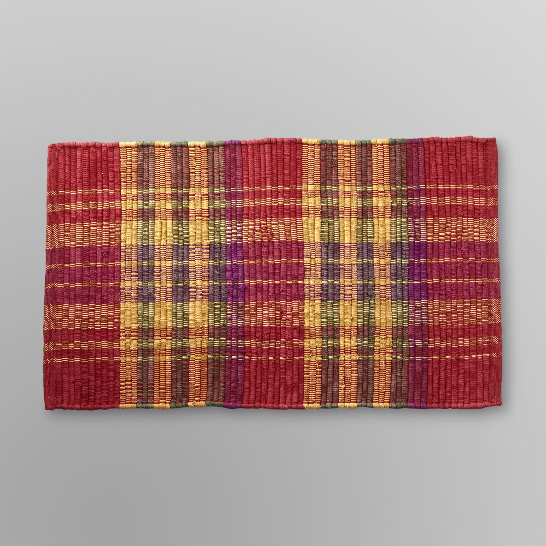 striped kitchen rug cork floors in essential home accent multi stripe