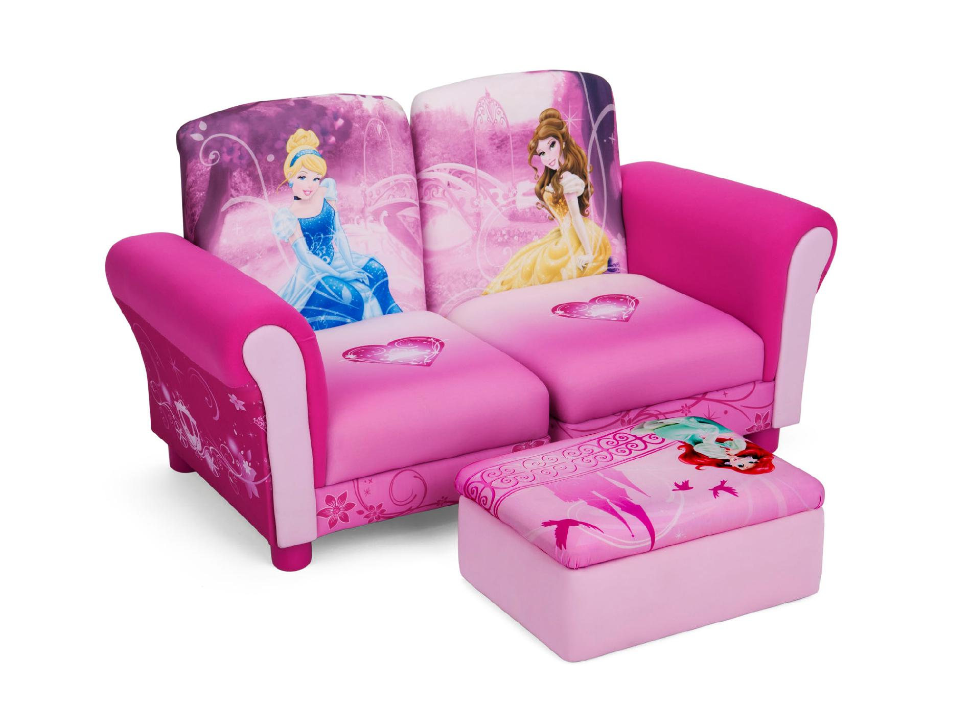 kids sofa set leather beds sydney delta children disney princess 3 pc upholstered
